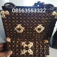 Jual tas batok atau tempurung kelapa. Hp.08563553322